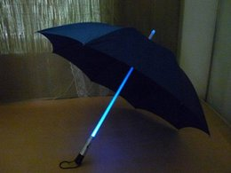 linterna de nylon Rebajas Creative LED Light Umbrella Muti Colors LED Paraguas Transparente Luminoso Inside Out Windproof Umbrellas with Flashlight Mejor Regalo PR