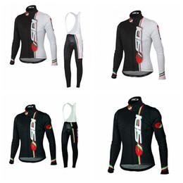 rosso pattino di ciclismo Sconti SIDI team Pantaloni da ciclismo in jersey manica lunga ciclismo set Abbigliamento bici di alta qualità Nuovo abbigliamento sportivo da uomo Q72232
