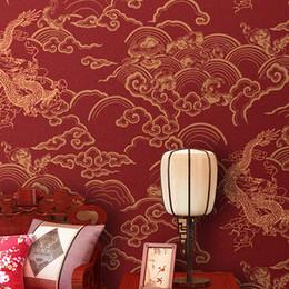 2019 antikes chinesisches china House China Dragon Tapeten TV Hintergrund Tapeten Vliestapeten Chinese Antique Porch Study Foyer Wohnschlafzimmer günstig antikes chinesisches china