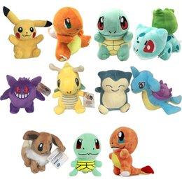 Pellicola del giocattolo online-Peluche Pokemon Pikachu degli animali farciti del giocattolo della peluche Johnny tartaruga Film peluche bambole miglior regalo di Natale lol