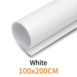 "backdrop pvc Promo Codes - White 100cm*200cm 39""*79"" White Seamless Water-proof PVC Backdrop Background Paper for Photo Video Photography Studio"