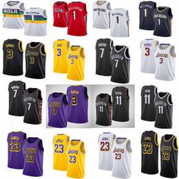 2019 dauernde basketball-trikots NCAA Herren Kevin 7 Durant Kyrie NCAA 11 Irving Trikots LA LeBron 23 James Anthony 3 Davis 1 Zion Williamson Stickerei Basketball Trikots günstig dauernde basketball-trikots