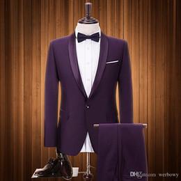 traje de plata pajarita Rebajas 2019 Últimos diseños Hombres Traje Por Encargo Tamaño Tuxedos Prom Dinner Trajes para hombre El mejor hombre Novio Trajes de boda (Chaqueta + Pantalones + Pajarita)