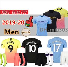 Лучшие трикотажные изделия онлайн-Лучшее качество 2019 2020 Манчестер Празднование Mashup футбол Джерси Сити 19 20 SANE SILVA MAHREZ DE BRUYNE G.JESUS футболка форменная