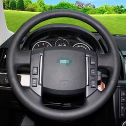 2019 emblème d'octavie Couvre volant de voiture en cuir artificiel noir pour Land Rover découvre la découverte de Freelander Aurora pour Gods Range Rover