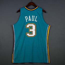 Misura di jersey di pallacanestro 4xl online-100% cucita Chris Paul Mitchell Ness 05 06 Jersey all'ingrosso Jersey Mens Vest Taglia XS-6XL Pullover di pallacanestro cucita Ncaa