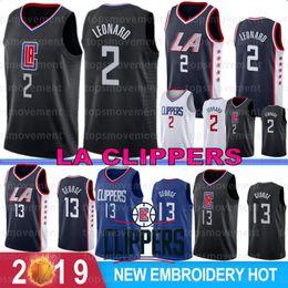 2019 uomini di indossare college NCAA Kawhi 2 Leonard LA Uomini Clippers maglie Paul 13 George College Basketball maglie cucite pallacanestro Wear S-XXL uomini di indossare college economici