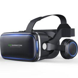 Original Shinecon VR Lunettes En Cuir 3D Carton Casque Casque Stéréo VR Box Réalité Virtuelle pour 4-6 'Mobile Téléphone ? partir de fabricateur