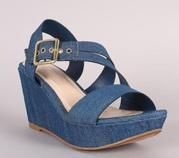 Heißer Verkauf Große Größe Sandalen Frauen Echtes Leder Sommer Schuhe Frau Slip Auf Offene Spitze Plattform Sandalen Plus Größe 35-44 Wsh3289 Frauen Sandalen