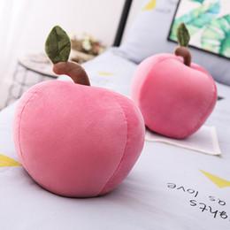 2019 peluche pomme Simulation créative forme de pomme mignon oreiller en peluche jouet maison canapé coussin décoration ornements enfants cadeau d \ 'anniversaire promotion peluche pomme