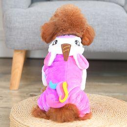 2019 robot vestiti Robot Unicorn Pet Dogs Cappuccio con cappuccio Cartoon Colore rosa Moda Tempo libero Autunno e inverno Trasfigurazione Vestito Cane Abbigliamento 23cxE1 sconti robot vestiti