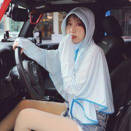 2020 giacche da giacca lunga coreana Abbigliamento estivo protezione femminile nuova versione coreana anti-UV della giacca lunga protezione solare all'aperto giacche da giacca lunga coreana economici