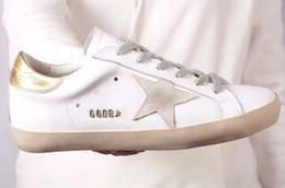 scarpe coreane ragazze bianche nere Sconti 2019 Designer Shoes Goose old style sneakers in vera pelle Villous Dermis Mens donna di lusso formatori Superstar