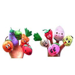 Детские наборы для девочек онлайн-10Pcs Cartoon Vegetable Fruit Dolls Finger Puppets Set Mini Plush Baby Boys Girls Story Telling Hand Cloth Doll Educational Toys