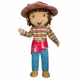 Traje de morango on-line-SpotSound Morango Shortcake Girl Mascot Costume Party Dress Frete Grátis