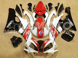 2019 kit de carenado yamaha r6 personalizado Kits de carenado completo ABS de calidad OEM aptos para YAMAHA YZF-R6 06-07 YZF600 2006 2007 R6 Juego de carrocería personalizado blanco rojo kit de carenado yamaha r6 personalizado baratos