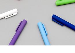 penna di anguria Sconti Xiaomi Youpin 8pcs / scatola della penna del gel originale Kaco K1 con refill nero liscio scritta nera 0,5 penna neutra colorful colori
