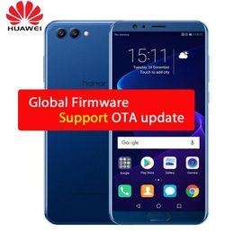 teléfono tri sim Rebajas Comercio al por mayor Original Huawei Honor V10 Octa Core Phone 6G 64 / 128G 5.99inch 2160X1080P FingerPrint doble cámara trasera Firmware global Andriod 8.0