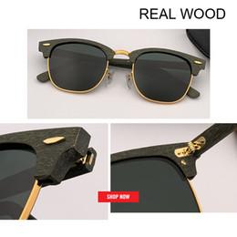 4d985a81feed5 2019 Retro real Bamboo Wood Sunglasses Men Women Brand Designer Goggles  gafas uv400 club master Sun Glasses Shades lunette oculo 3016 sun wood gafas  on sale