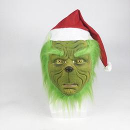 Canada Comment le Grinch a volé le masque de Noël Hommes Femmes Vert Latex Party Cosplay Masque Avec Autres Casques Couvre Halloween Noël Offre