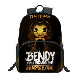 New Bendy Und Die Tintenmaschine Rucksäcke Für Kinder Schultaschen Cartoon Game 3D Buch Rucksack Täglichen Schultasche von Fabrikanten