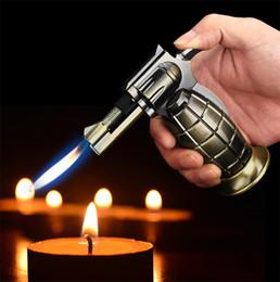 spray de chama Desconto Gás de granada Butano gás Tocha isqueiro Jet flama Windproof Recarregável charuto cigarro Mais Leve ferramenta de Cozinha Pistola de pulverização Jet Flame lighte