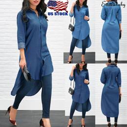 new product c518f 85490 Sconto Vestiti Di Jeans Lunghi Di Modo | 2019 Vestiti Di ...