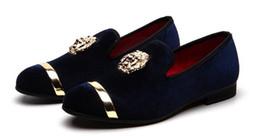 Vestidos de fiesta de terciopelo marrón online-Hombres, zapatos de vestir de terciopelo marrón, prom hombres fumando zapatillas de fiesta y mocasines de boda BLUE RED BLACK Hombres Slip-on tamaño grande 7-12 # 568