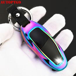chave para nissan qashqai Desconto Carro colorido Remote Control Key Shell Case Capa Storage Bag Protector luxo Styling Para Tesla Model X Model S