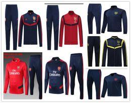 2019 2020 Arsenel OZIL kit jaqueta de futebol survethement 19/20 Arsenais LACAZETTE AUBAMEYANG GIROUD jaquetas de futebol zíper Completo treino de