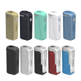 globe en verre stylo vape en gros Promotion [1pc] Yocan UNI Box Mod 650mAh Batterie Préchauffer Tension Variable VV Vape Mods Avec Adaptateur Magnétique 510 Pour Cartouche D'huile Épaisse Authentique