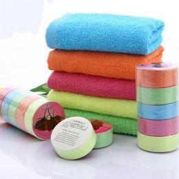 Una toalla online-Una vez comprimido, toalla, algodón, color, exterior, viaje, portátil, comprimido, toalla Color aleatorio, portátil, viaje, toalla, baño