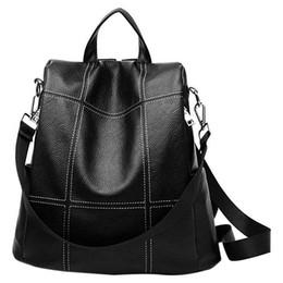 anti-diebstahl-geldbörsen Rabatt Frauen Rucksack Handtasche Wasserdichte Pu-leder Diebstahl Rucksack Mode Schule Umhängetasche