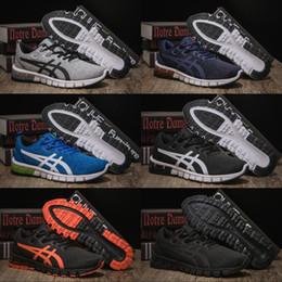 Las mejores zapatillas naranjas online-Zapatillas deportivas para hombre Asics Gel-Quantum 90 para hombre de la mejor calidad Zapatillas de deporte deportivas de Balck Orange para hombre y mujer 40-45 EUR
