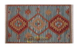 Alfombras turcas online-La lana hecha a mano Kilim turco Alfombra exquisito Runner habitación Alfombra geométrica de lana natural de oveja Dormitorio