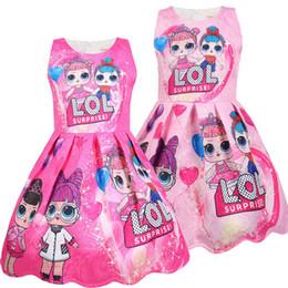 vestidos de adolescente roxos Desconto Verão Colorido Meninas Lol Vestido Bonecas Menina Vestidos de Festa de Aniversário Roupas de bebê do Dia Das Bruxas Natal Criança Traje Cosplay Roupa Dos Miúdos