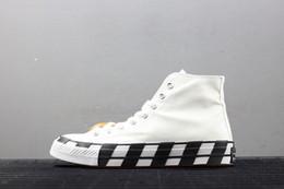 2019 scarpe kevin durant scarpe basse Converse x Off white  New Stripe OFF Chuck 70 bianco accattivante rosso arancio SHOELACES Taylor 1970S canvas uomo e donna scarpe da corsa scarpe casual moda 162