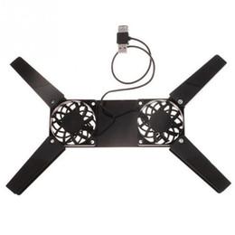 caldo freddo pad Sconti Mini pad di raffreddamento pieghevole per PC portatile USB di vendita caldo 2 ventole di raffreddamento Supporto per laptop Accessori per laptop