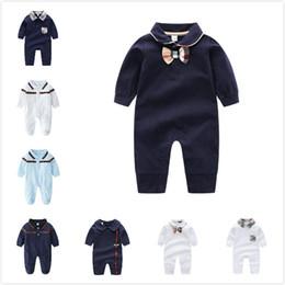 2019 vestidos marrones monos 2019 New Baby Body Mamelucos Monos Bebés Ropa para niñas Vestidos para niños Ropa de bebé recién nacido Algodón Ropa de manga larga Mameluco 9 st