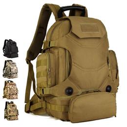 40L 2 Takım Seyahat Çantaları Taktik Sırt Çantası Kamp Çantası Askeri Sırt Çantaları Yürüyüş erkek Açık Spor Sırt Çantası + Bel Paketi XA612WA # 814310 supplier hiking waist backpack nereden yürüyüş bel sırt çantası tedarikçiler