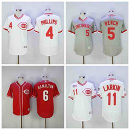 johnny panca jersey Sconti Maglia da uomo Cincinnati Brandon Phillips Reds Billy Hamilton Panca da Johnny Barry Larkin Reggie Sanders Maglia da baseball