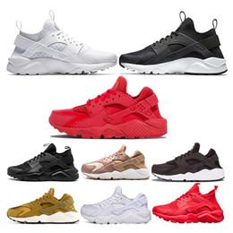 Basketballschuhe stiegen online-Nike air huarache Air Huarache Running Schuhe Mens Womens Designer schwarz weiß Triple schwarz weiß alle rot rose gold gelb weiß Sport Sneaker Größe 36-45