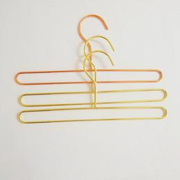 Canada 2 Taille Rose Gold Wire Wire Towl Cintre Serviette De Bain Chaussettes Vêtements Cintres De Rangement Rack pour Enfants Adultes cheap iron storage racks Offre