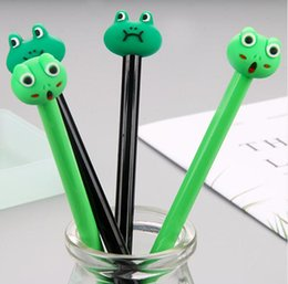 rane nere Sconti 2019 Vendita calda Originalità Cute frog Neutral pen black 0.5mm Materiale scolastico Black water pen Forniture per ufficio scolastico