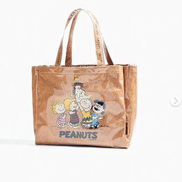 sacos snoopy Desconto Bolsa de Ombro Designer de Moda Snoopy Bolsa Mulheres Saco de Compras À Prova D 'Água Sacos de Ombro Estudante Escola Sacos Do Mensageiro Totes