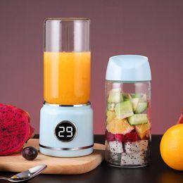 elektrische schröpfende maschinen Rabatt 420ml Küchenwerkzeuge Mini Juicer 2 Cup Elektro Obst und Gemüse Schleifen Tragbarer frisch gepressten Saft-Maschine DHL-freies Verschiffen