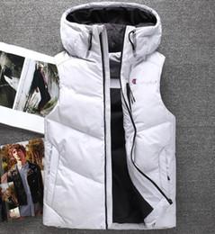 Marche giacche popolari online-Campione di alta qualità degli uomini di marca inverno gilet Regno Unito popolare giacca di calore scaldino uomini anatra giubbotto downparka con cappuccio