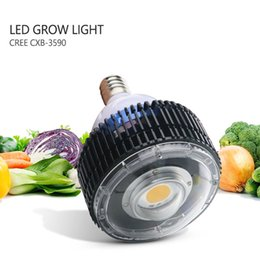 2019 led cree e27 cob CREE COB E27 LED crece la luz, CREE CXB3590 100W Full Spectrum LED Planta crece luces con lente de vidrio sin ventilador para plantas de interior led cree e27 cob baratos