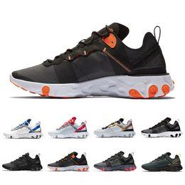 2019 sapatas running do ems Nike React Element 55 NIKE EPIC REACT ELEMENT 55 Taped Seams Solar Red React Element 55 Total Orange Men Running Shoes For Women Designer Athleti Mens women Trainer 55s Sneakers