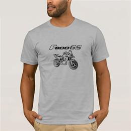 2019 gs motocicli T-Shirt da uomo 2019 Più nuovo 100% cotone Brand New T-Shirts Moto Classic tedesco fan di moto F 800 F800 Gs Tee Tshirt Homme gs motocicli economici